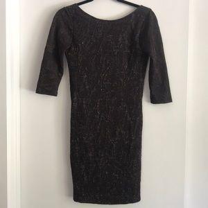 Zara open back mini dress